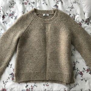 Madewell Beige Crew Neck Sweater
